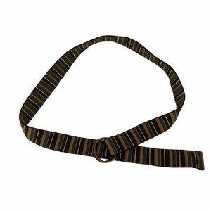 Jet Lag Mens 32 / 34 Waist Belt Striped Neutral